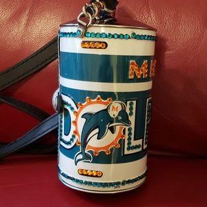 Miami Dolphins Handmade Metal Purse
